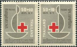 Thailand 1963. Michel #407/08 MNH/Luxe. 100 Years Red Cross. (B45) - Thaïlande