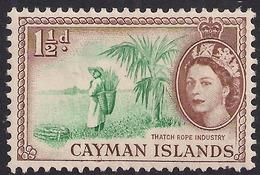 Cayman Islands 1953 - 62 QE2 1 1/2d Thatch Rope Industry MM SG 151 ( K1439 ) - Cayman Islands