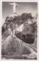 RIO DE JANEIRO. ESTRADA F DO CORCOVADO. TRAMWAY. VOYAGE 1951 STAMP A PAIR- BLEUP - Rio De Janeiro