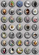 Writer Julio Verne ART BADGE BUTTON PIN SET 1 (1inch/25mm Diameter) 35 DIFF - Celebrities