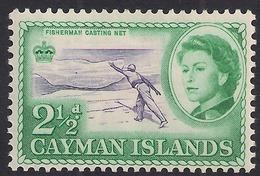 Cayman Islands 1962 - 64 QE2  2 1/2d Fisherman Casting Net MM SG 169 ( K1430 ) - Cayman Islands