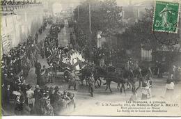 LIMOGES Obsèques Du Médecin-major A. MALLET 24 Nov. 1913 Sortie De La Gare Des Bénédictins - Limoges