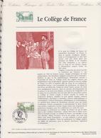 1ER JOUR  FEUILLET DOCUMENT PHILATELIQUE 97 527 LE COLLEGE DE FRANCE - Documents De La Poste