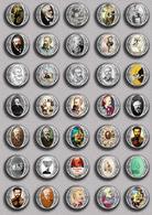 Writer Julio Verne ART BADGE BUTTON PIN SET 2 (1inch/25mm Diameter) 35 DIFF - Celebrities