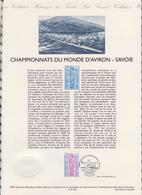 1ER JOUR  FEUILLET DOCUMENT PHILATELIQUE 97 529 CHAMPIONNATS DU MONDE D'AVIRON SAVOIE - Documents De La Poste