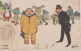 CPA Illustrateur Gervèse - L'arrivée Au Service (carte Colorisée) - Gervese, H.