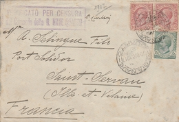 LSC 1917 - Enceloppe Pour St Servan ( Ile Et Vilaine) - Censure - VERIFICATO PER CENSURA  - R.NAVE - 1900-44 Victor Emmanuel III
