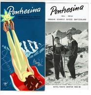 Suisse - Saison 1959/60 - Dépliant Publicitaire PONTRESINA Engadin + Liste De Prix Hôtels - 5 Scans - Dépliants Touristiques