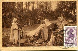 Maroc Espagnol- Campement Nomade. CPA Non écrite - Maroc