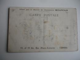 Saintes Chaussures Mouroux Carte Publicite - Saintes