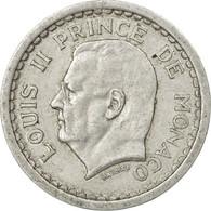 Monnaie, Monaco, Louis II, Franc, Undated (1943), TB+, Aluminium, Gadoury:131 - Monaco