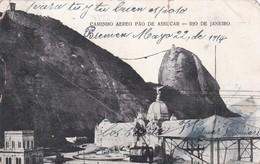 CAMINHO AEREO PAO DE ASSUCAR, RIO DE JANEIRO. BRASIL. CIRCULEE URUGUAY 1914- BLEUP - Rio De Janeiro