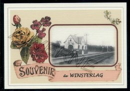 WINSTERLAG    ...... Gare 2 Cartes Souvenirs  Creation Moderne Série Limitée CPM - Genk