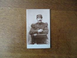 CHERBOURG JULES DESREZ OFFICIER D'ACADEMIE PHOTOGRAPHIE PARISIENNE 53 RUE DU BASSIN  SOLDAT - Krieg, Militär