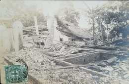 O) 1906 JAMAICA, POSTAL CARD DESTRUCTION- STAMP ARMS OF JAMAICA SC. 58 1/2p Green, XF - Postcards