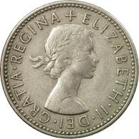 Monnaie, Grande-Bretagne, Elizabeth II, Shilling, 1956, TTB, Copper-nickel - 1902-1971 : Monnaies Post-Victoriennes