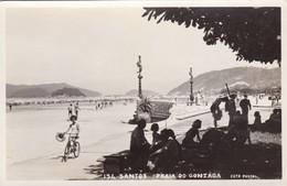 SANTOS. PRAIA DO GONZAGA. FOTO POSTAL COLOMBO. BRASIL. CIRCA 1930s NON CIRCULEE- BLEUP - São Paulo