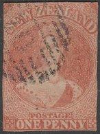 CLASSIC NZ CHALON 1d FFQ DAVIES PRINT 1862 - 1855-1907 Crown Colony