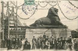 75014 - PARIS - Le Lion De Belfort Pendant La Fete En 1907 - Arrondissement: 14