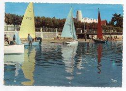ANDERNOS LES BAINS --1962 -- Marée Haute ,Façade Des Terrasses ( Animée,voiliers)--timbre--cachet - Andernos-les-Bains