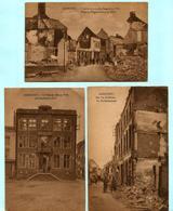 3x AARSCHOT : De Beckerstraat + Het Stadhuis In 1914 + Begin Der Bogaerdenstraat In 1914 - Aarschot