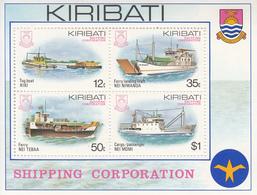 1984 Kiribati  Shipping Corporation Ships Souvenir Sheet Complete MNH - Kiribati (1979-...)
