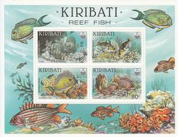 1985 Kiribati  Reef Fish Poisson Souvenir Sheet Complete MNH - Kiribati (1979-...)