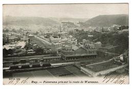 Huy - Panorama Pris Sur La Route De Waremme - Circulée En 1906 - Edit. D.V.D. 1069 - 2 Scans - Huy