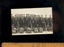 Photo Carte Militaire : Soldat Soldats Du 60 Eme Régiment Infanterie Fusils Paquetage Matériel BESANCON - War 1914-18