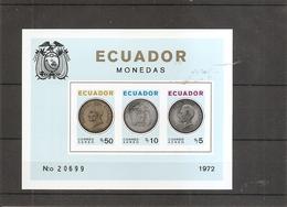 Monnaies ( BF 23 Non Dentelé XXX -MNH- De L'Equateur) - Coins