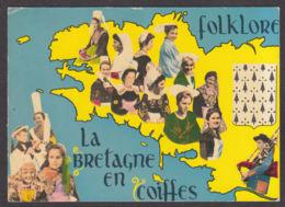 91304/ FRANCE, La Bretagne En Coiffes - Cartes Géographiques