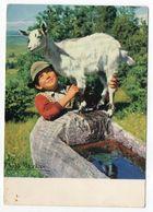 Photographe  Albert MONIER -- En Auvergne --  Enfant Et Chèvre  --- - Monier