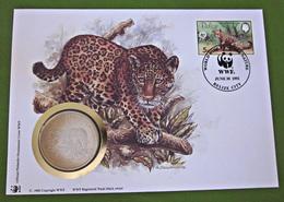 Numisbrief Münze 30 Jahre WWF 1992 Belize Jaguar Tiere - Belize