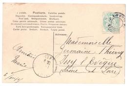 """Carte Postale Oblitération """"jour De L'an"""" Timbre à Date De Paris Limité à La Couronne 5c Blanc Vert Yv 111 - 1849-1876: Période Classique"""