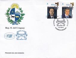 ACADEMIA DE FILATELIA DE URUGUAY-FDC CORREOS DEL URUGUAY 2013- BLEUP - Uruguay
