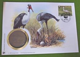 Numisbrief Münze Malawi 30 Jahre WWF 1987 Vögel Tiere - Malawi
