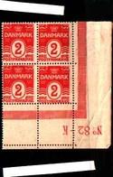 73244) Danimarca-1905-cifra In Ovale-2 O-rosso-n.49-quartina.mnh* - Yemen