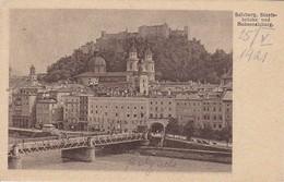 AK Salzburg - Staatsbrücke Und Hohensalzburg (37492) - Salzburg Stadt