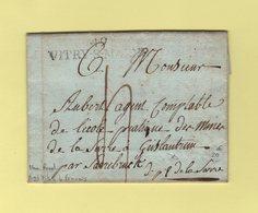 Vitry Sur Marne - 49 - Nom Revolutionnaire De Vitry Le Francois - Marne - 1810 - Destination Departement De La Sarre - 1801-1848: Precursors XIX