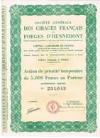 Ancienne Action - Société Générale Des Cirages Français Et Forges D' Hennebont - Titre De 1881? - Industrie