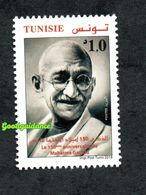2018- Tunisia -India- 150th Anniversary Of Mahatma Ghandi- Complete Set 1v MNH** - Mahatma Gandhi