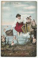 Baby's Vissen - 1906 Verstuurd - Babies