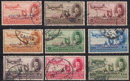EGITTO - 1952 - Posta Aerea; Lotto Di Nove Valori Obliterati: Yvert 43/47, 49/51 E 53. - Posta Aerea