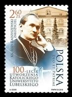 Poland 2018 Mih. 5020 Catholic University Of Lublin. Philosopher Idzi Radziszewski MNH ** - 1944-.... Republic