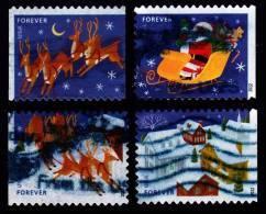 Etats-Unis / United States (Scott No.4712-15 - Noël / 2012 / Christmas) (o) P3 Série De 4 / Set Of 4 - Used Stamps