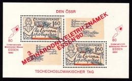 CSSR 1980 Block Mi. 42 Yv. 41 A Postfrisch MNH** - Blocchi & Foglietti