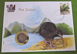 Numisbrief New Zealand Vogel Tiere Münze Briefmarke - New Zealand