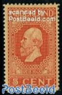 Netherlands 1913 5c, King Willem III, Perf. 11.5, (Mint NH), Stamps - Period 1891-1948 (Wilhelmina)