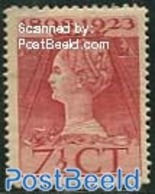Netherlands 1923 7.5c, Perf. 11.5x12.5, Stamp Out Of Set, (Mint NH), History - Kings & Queens - Period 1891-1948 (Wilhelmina)