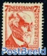 Netherlands 1928 7.5+2.5c, H.A. Lorentz, Perf. 12, (Unused (hinged)), Science - Physicians - Period 1891-1948 (Wilhelmina)